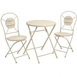 Folding Metal Table And Chair Set