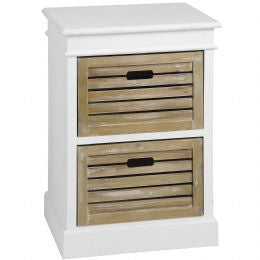 Two Drawer Wooden Cabinet