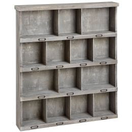 Multi Shelved Wooden Storage Cabinet