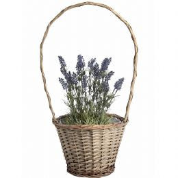 Large wicker plant basket