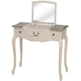 Manor House 2 Drawer Dressing Table With Folding Mirror