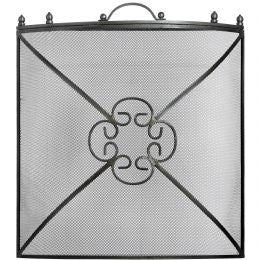 Mesh Fireguard in Antique Pewter Effect Finish