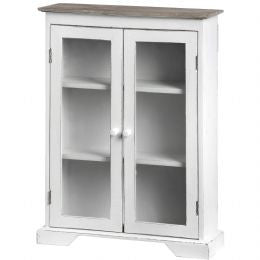 Cabinet with Double Glass Fronted Doors