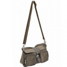Mock Nubuck Shoulder Bag
