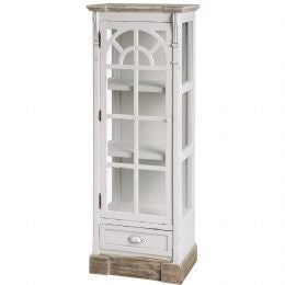 Multi Shelved Glazed Wooden Unit