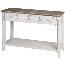 New England Three Drawer Console Table
