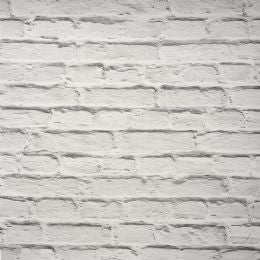 Painted White Brick Wallpaper