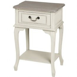 One Drawer Wooden Bedside Table