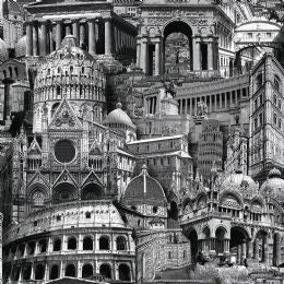 Rome Black and White Wallpaper