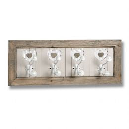 The Studley Collection 4 Heart Wall Hooks