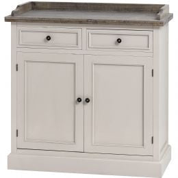 Hall Cabinet with Wooden Top Counter