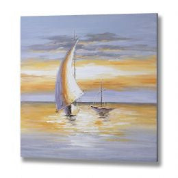Yachts at Sunset Canvas