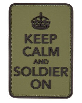 Keep Calm and Soldier On Patch - A2 Supplies Ltd