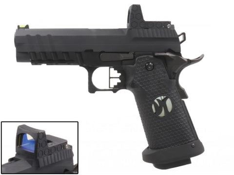 "Custom Hi-Capa ""Black Ace"" 4.3 w/Reflex Sight - A2 Supplies Ltd"