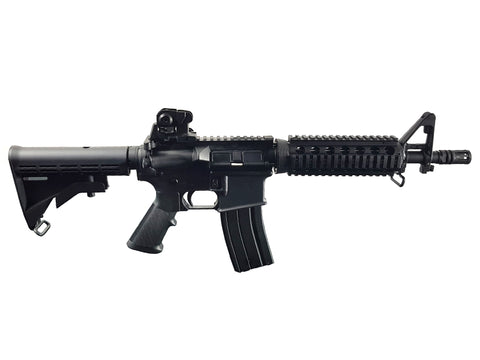 Golden Eagle M4 RIS CQB Gas Blowback Rifle (Black) - A2 Supplies Ltd