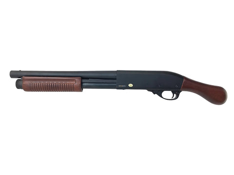 M870 Sawn Off  Gas Tri-Shot Shotgun - Wood/Metal - A2 Supplies Ltd