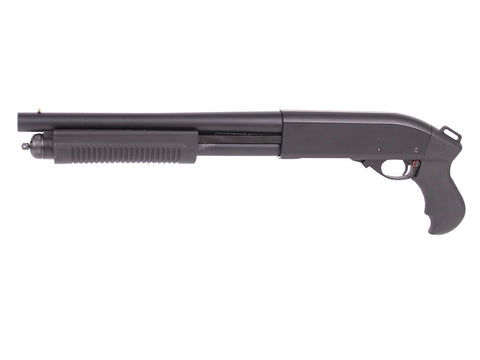 Golden Eagle M870 Breacher Tri Shot Gas Pump Action Shotgun Short Black - A2 Supplies Ltd