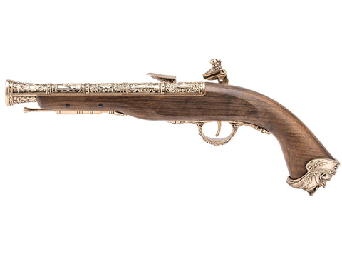 HFC Pirate Flintlock Gas Pistol (18th Century - HG-502GN - Gold) - A2 Supplies Ltd