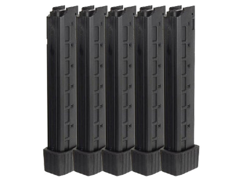 Arrow Dynamic Arms APC-9 AEG SMG Mag 5pcs Box Set - Long - 110rds - Black