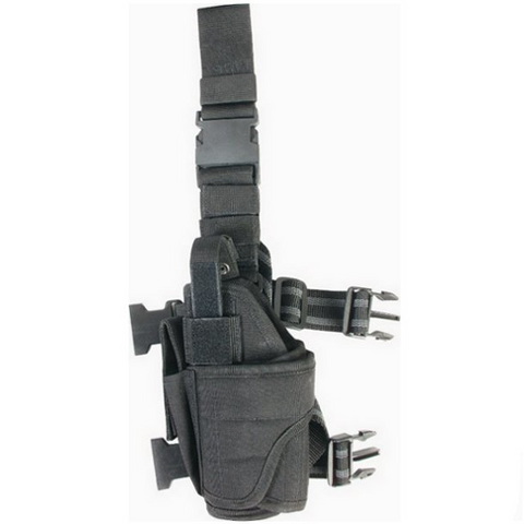 Adjustable Drop Leg Holster Black - Left