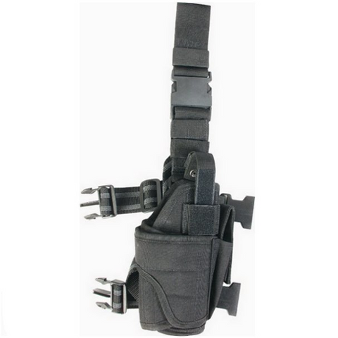 Adjustable Drop Leg Holster Black - Right - A2 Supplies Ltd