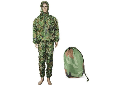 Big Foot Ghillie Suit Leaflike Camouflage Woodland