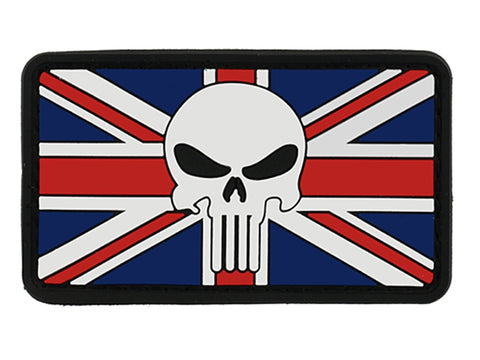 UK Flag Skull Patch