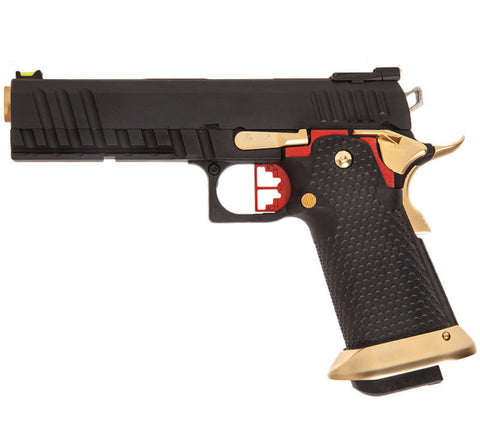 Custom Hi-Cappa - Black Slide, Black Frame, Gold Barrel