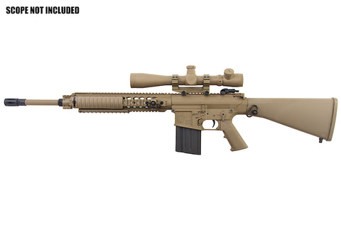 SR25 DMR Sniper Rifle (Semi-Auto Only - 400FPS - Tan - M110) *PRE ORDER* - A2 Supplies Ltd