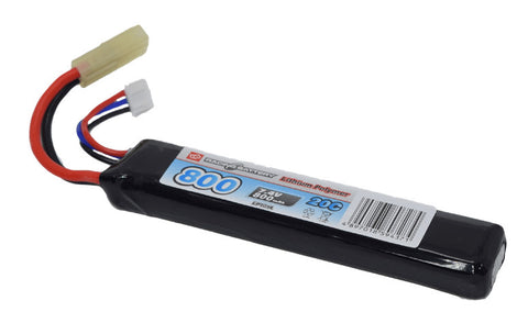 7.4v 800mah 20c Stick Lipo - A2 Supplies Ltd