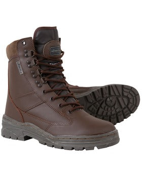 Patrol Boots - All Leather Brown