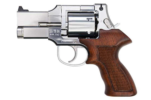 Mateba Revolver 3 inch Silver with Wood Grip - A2 Supplies Ltd