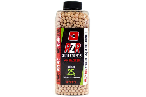 RZR 0.25g BB 3300rds Tracer Red - A2 Supplies Ltd