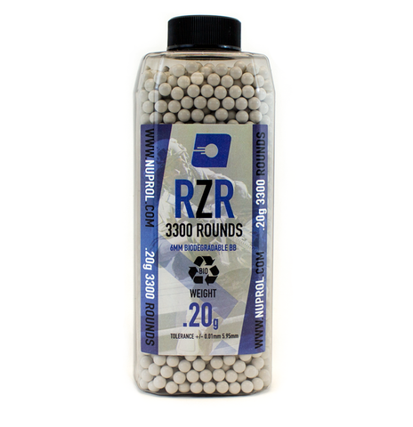 RZR 0.20g BIO BB's 3300rds - A2 Supplies Ltd