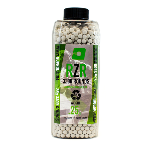 RZR 0.25g BIO BB's 3300rds - A2 Supplies Ltd