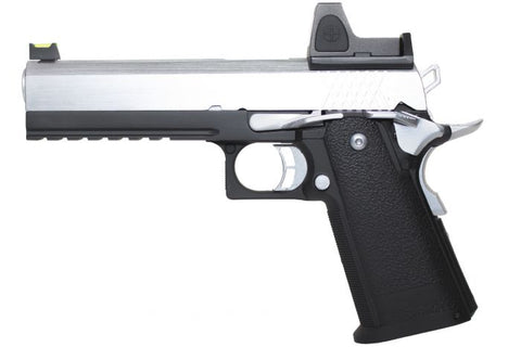 Raven Hi-Capa 5.1 Black Frame/Chrome Slide + BDS *WEB ONLY SPECIAL* - A2 Supplies Ltd