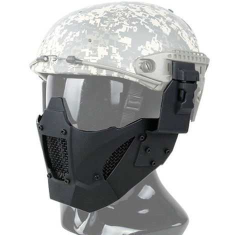 Half Face Fast Helmet Mask Black - A2 Supplies Ltd