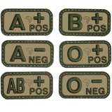 Viper Rubber Blood Type Patch