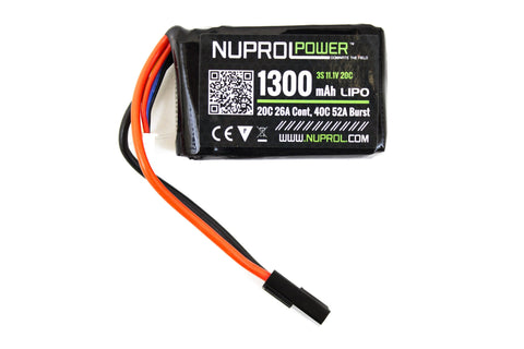 Nuprol Power 1300mah 11.1v 20c PEQ Micro Lipo - A2 Supplies Ltd