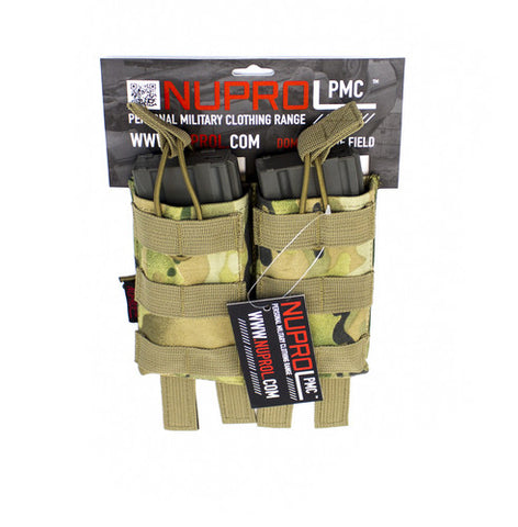PMC M4 Double Open Mag Pouch (4 colours) - A2 Supplies Ltd
