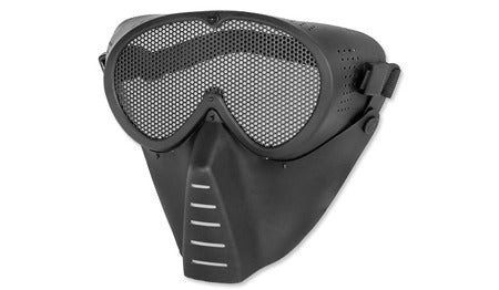 Full Face Mesh Grid Mask Black