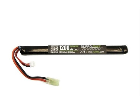 7.4v 1200mah LiPo Slim Stick - A2 Supplies Ltd
