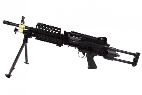 M249 SPW aeg Black w/Box Magazine - A2 Supplies Ltd