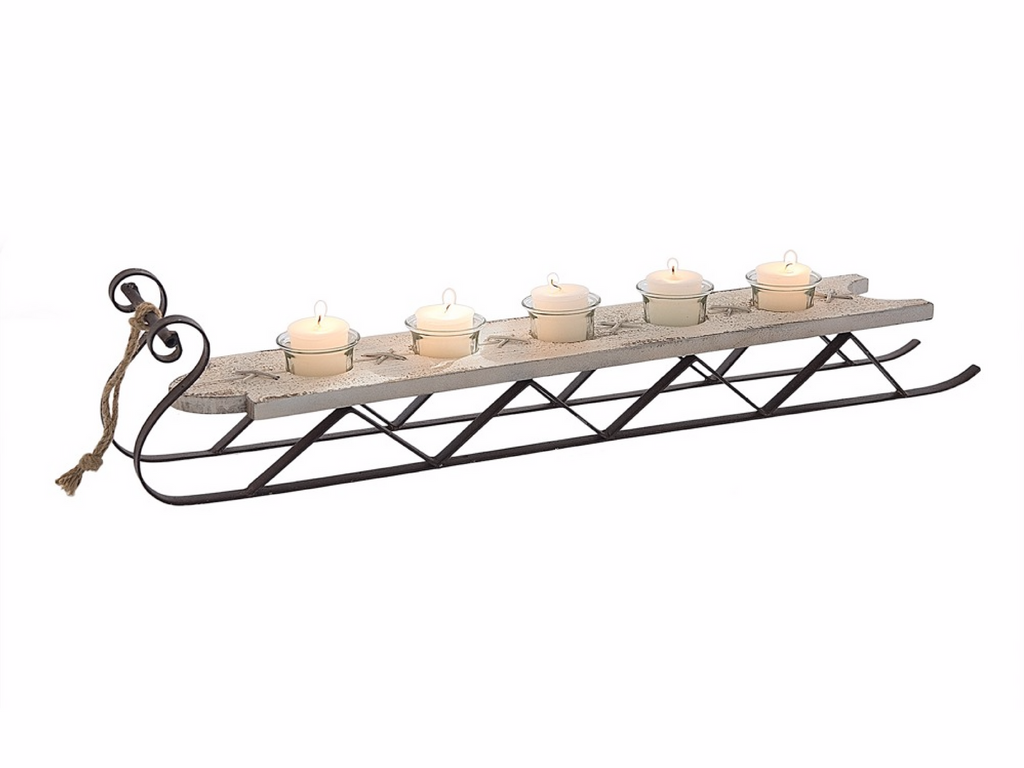 candle holder sleigh