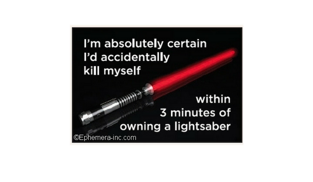 light saber funny