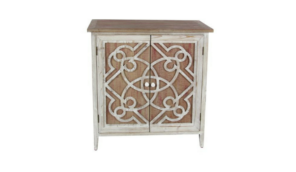 Two-Tone Wood Cabinet