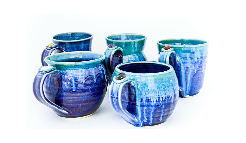 healing touch pottery mugs