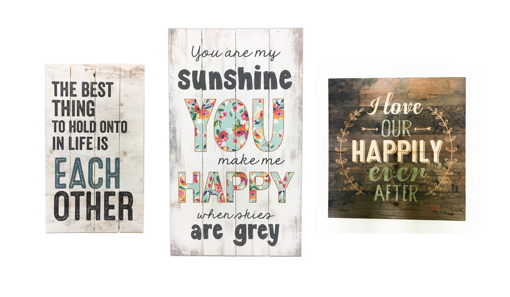 rustic pallet signs