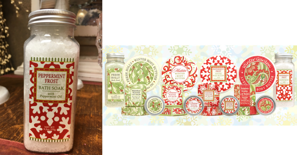 winter themed bath & body gifts