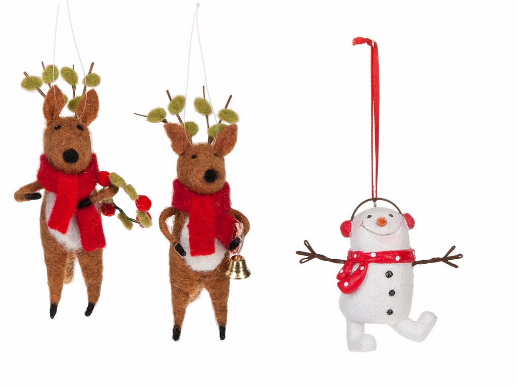 cute reindeer ornaments